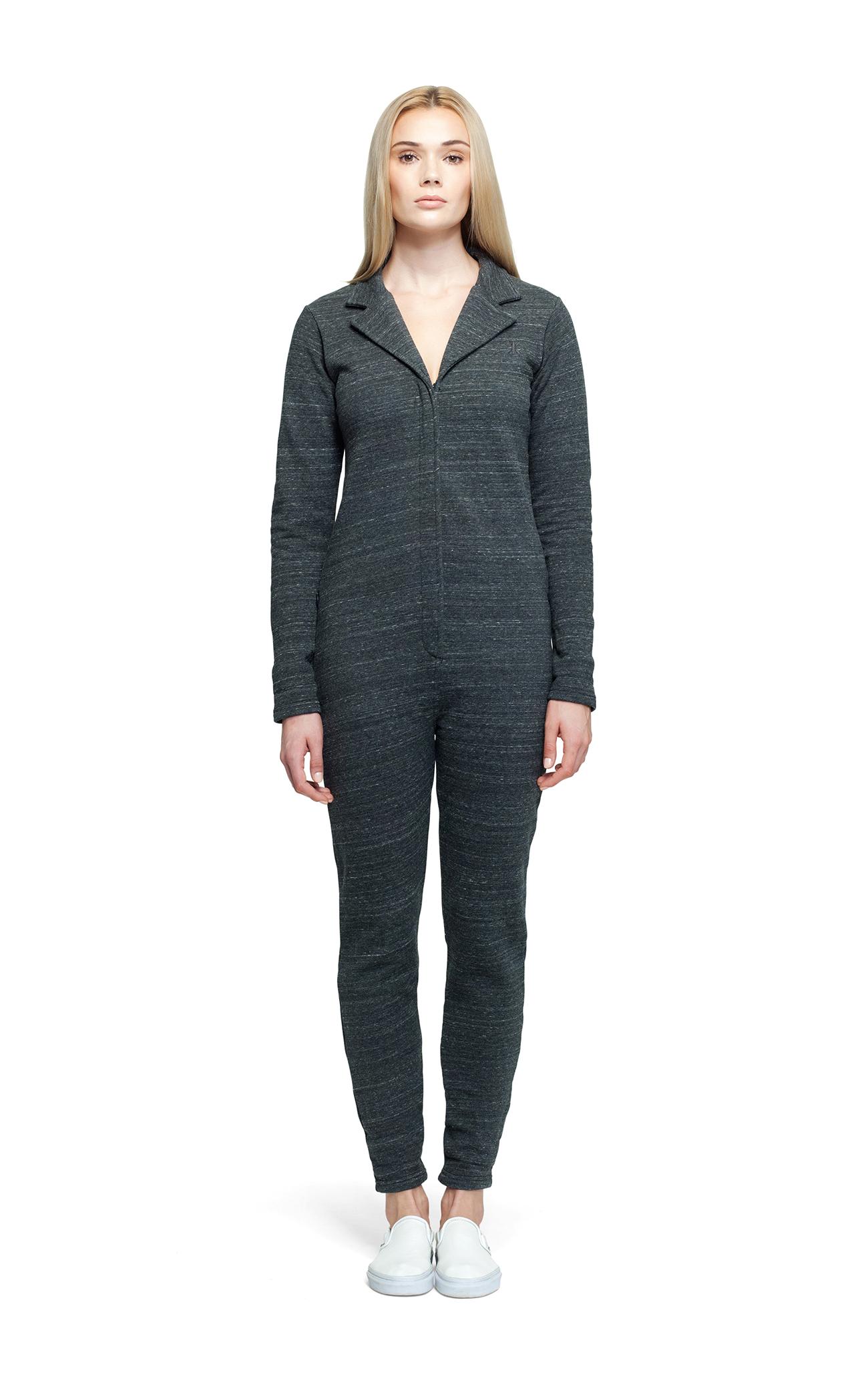 Suit Jumpsuit Black Melange