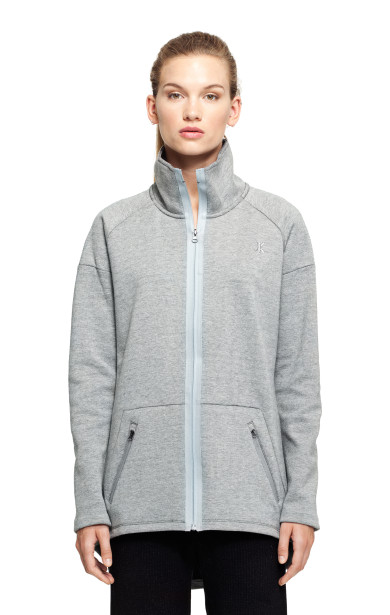 Capsulate Zip Jacket Grey Melange