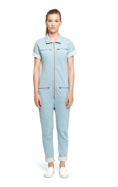 Keep Jumpsuit Grey/Blue Melange