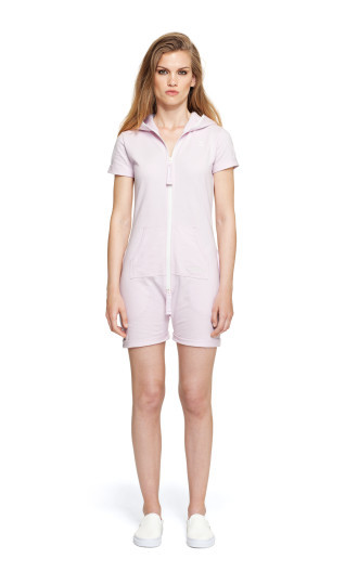 Onepiece Fitted Short Onesie Ice Cream Pink