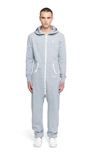 OnePiece Macro Jumpsuit Grey Melange Printed