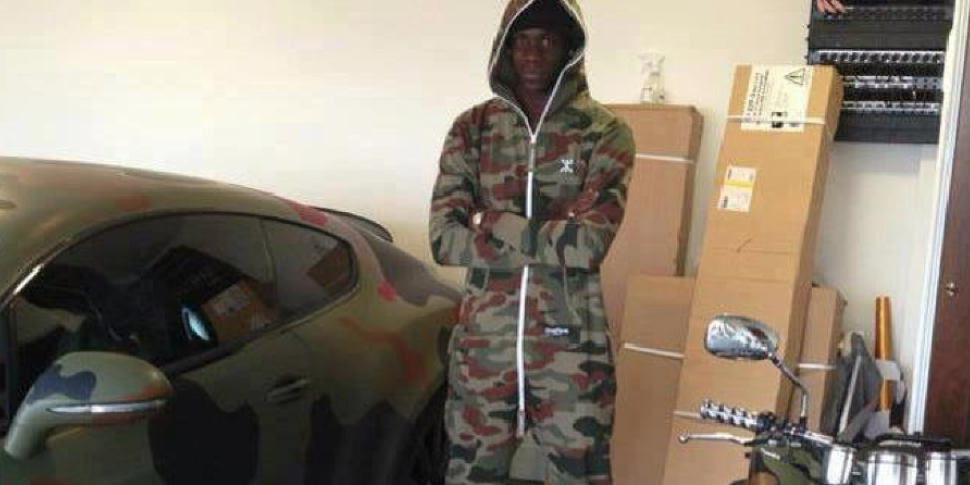 Mario Balotelli in the Onepiece™ Camouflage