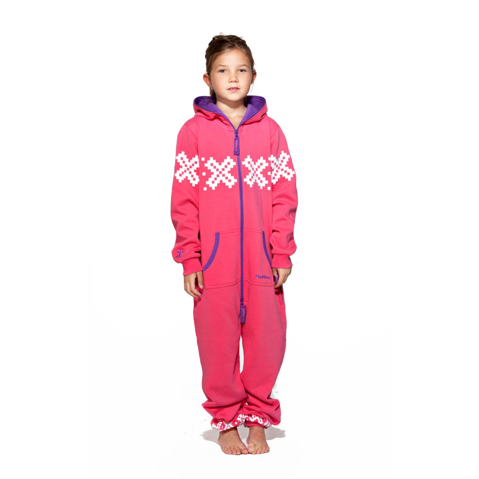 Onepiece Kids Nordic Onesie In Pink - Unisex Onesie