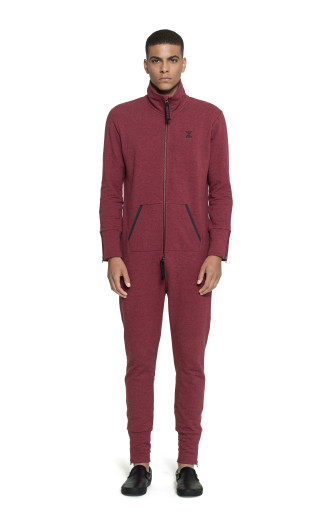 Onepiece Out Jumpsuit Red melange