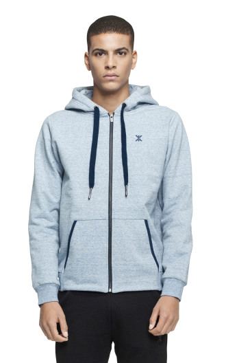 Onepiece Out Zip Hoodie LIGHT BLUE MEL