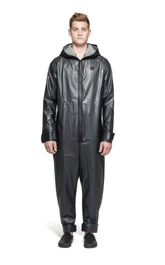 Onepiece Rain Jumpsuit Transparent black