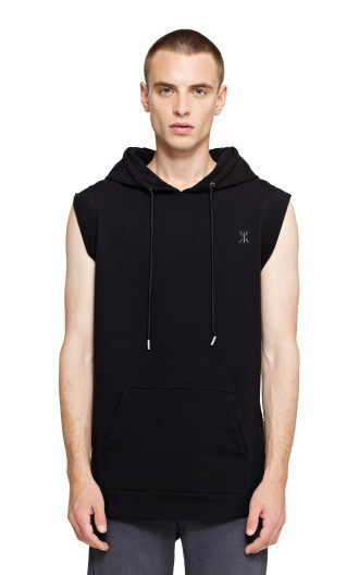 Onepiece Shell Hoodie Vest Black
