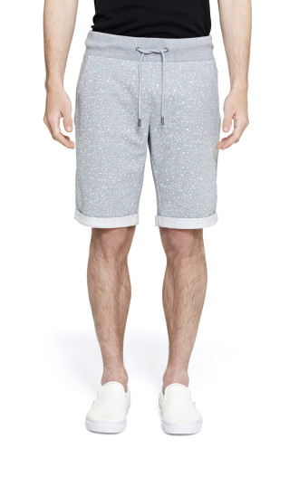 Onepiece Shell Shorts Grey Melange Printed