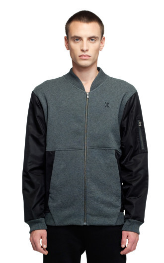 Onepiece True College Jacket Dark Grey Mel / Black