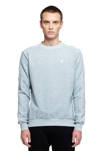 OnePiece Walk Sweater Grey Melange Printed